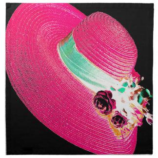 woman's hat printed napkins
