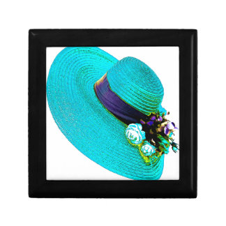 woman's hat small square gift box