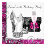 Womans Hot Pink Birthday Party