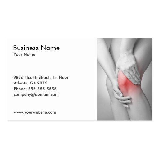 Woman's Knee Business Card Template