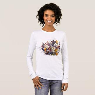 Woman's Long Sleeve Floral Tee Shirt