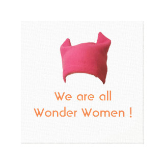 Woman's March Canvas Print