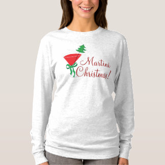 Womans Martini Christmas Shirt