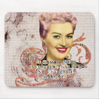 Womans Mind Digital Collage Pink Haired Lady Mouse Pad
