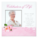 Womans Photo Memorial Service Announcement 13 Cm X 13 Cm Square Invitation Card