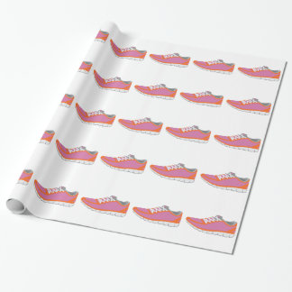 WOMANS RUNNING SHOE WRAPPING PAPER