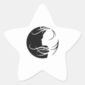 WOMANS SILHOUETTE STAR STICKER