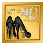 Womans Surprise 40th Birthday Party 13 Cm X 13 Cm Square Invitation Card