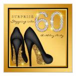 Womans Surprise 60th Birthday Party 13 Cm X 13 Cm Square Invitation Card