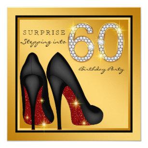 60th Birthday Surprise Invitations Announcements Zazzle Co Uk