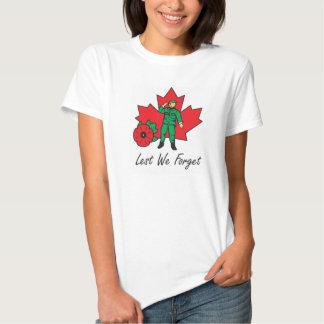 Womans T-Shirt - Lest We Forget