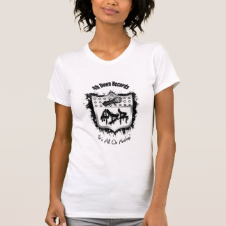 Womans White 4th Down Records T Shirt