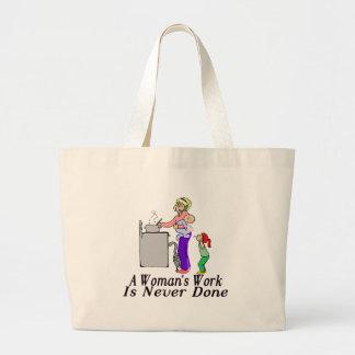 Woman's Work Jumbo Tote Bag