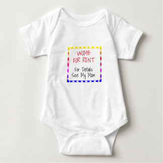 Womb For Rent For Details See My Mom Funny - Baby Bodysuit