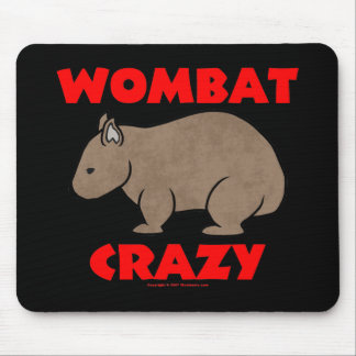 Wombat Crazy Mousepad