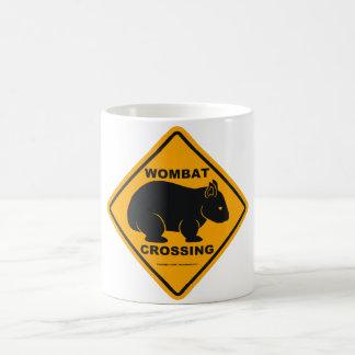 Wombat Crossing Sign Basic White Mug