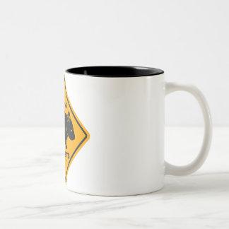 Wombat Danger Road Sign Coffee Mug