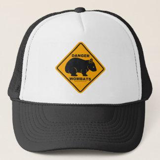 Wombat Danger Road Sign Trucker Hat