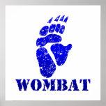 Wombat Footprint III Print