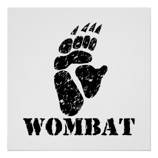 Wombat Footprint Poster