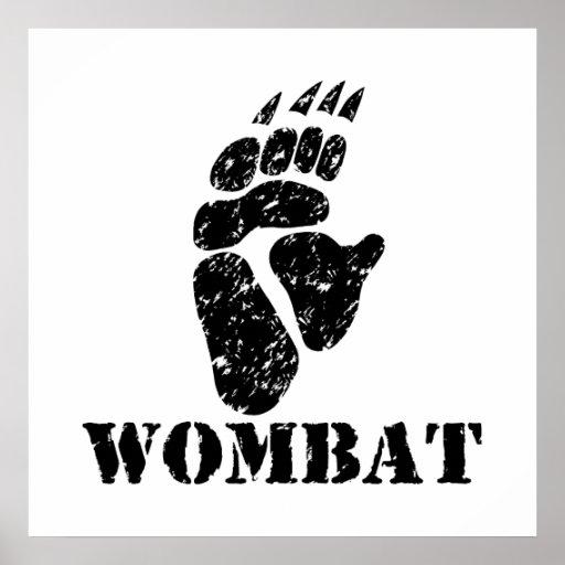 Wombat Footprint Print
