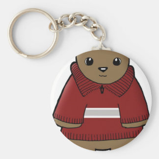 wombat in sweater with stripe jpeg basic round button key ring