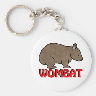Wombat Logo Basic Round Button Key Ring