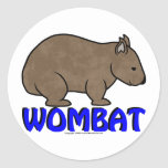 Wombat Logo III Round Sticker