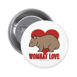 Wombat Love 6 Cm Round Badge