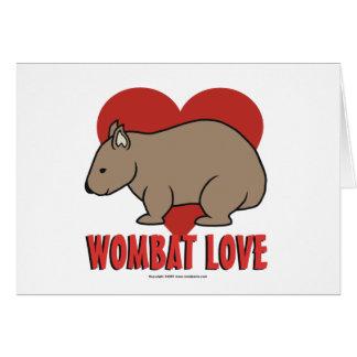 Wombat Love Card