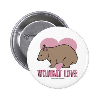 Wombat Love II 6 Cm Round Badge