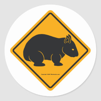 Wombat Sign (no text) Stickers