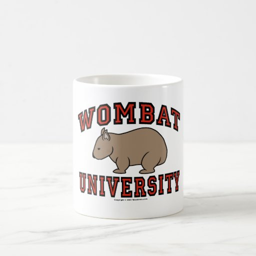 Wombat University Basic White Mug