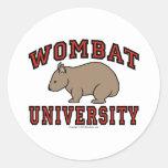 Wombat University Classic Round Sticker