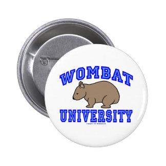 Wombat University II 6 Cm Round Badge