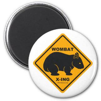 Wombat X-ing Road Sign Fridge Magnets