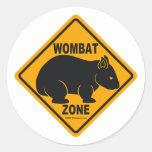 Wombat Zone Sign Classic Round Sticker