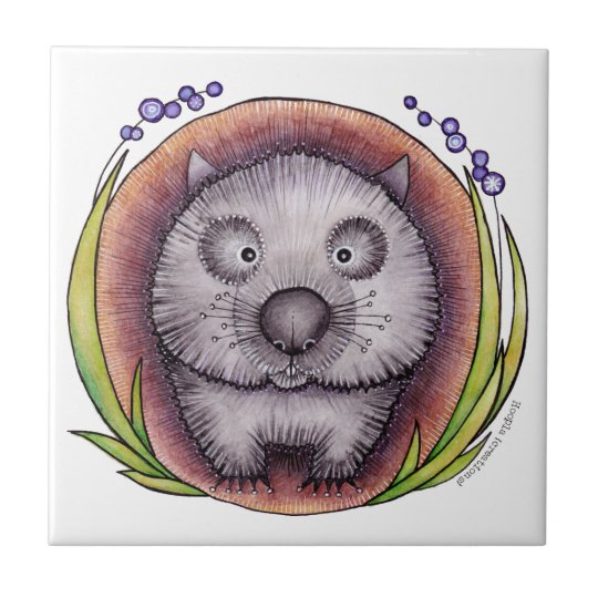 'Wombie' the wombat Tile or Trivet
