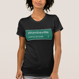 Wombsville Population 2   Pregnant with Twins Tee Shirt