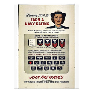 Women 20 To 36 Earn A Navy Rating 21.5 Cm X 28 Cm Flyer