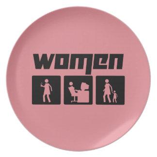 Women 2 plate