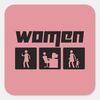 Women 2 square sticker