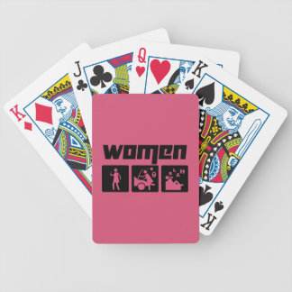 Women 3 bicycle playing cards