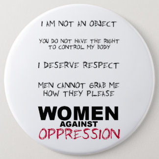 Women Against Oppression 6 Cm Round Badge