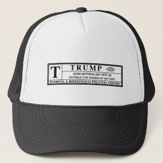 Women Against Trump Warning Label Trucker Hat