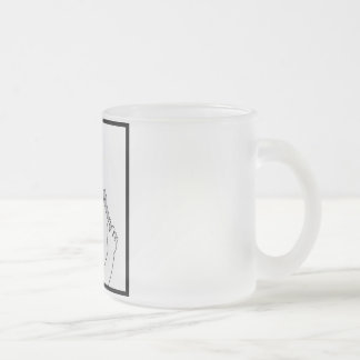 Women and Cars Frost Glass Mug