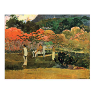 Women And Mold By Paul Gauguin (Best Quality) Postcard