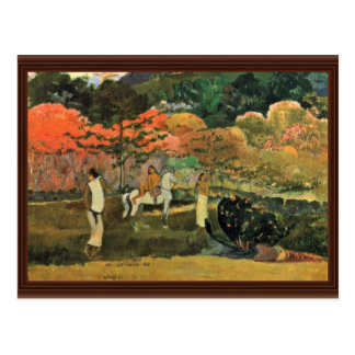 Women And Mold By Paul Gauguin (Best Quality) Post Cards