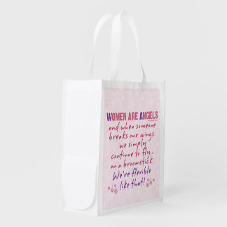Women are Angels Reusable Grocery Bag