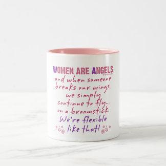 Women are Angels Two-Tone Mug